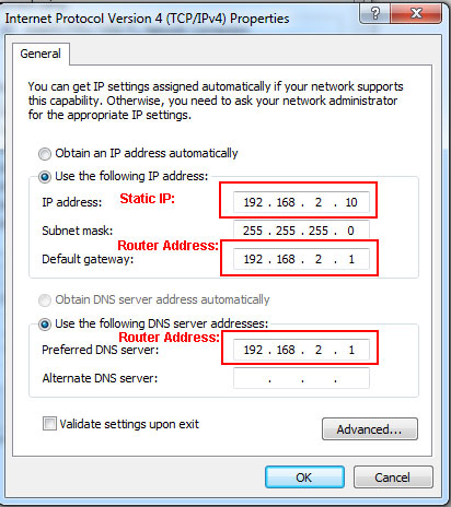 How to assign a static ip