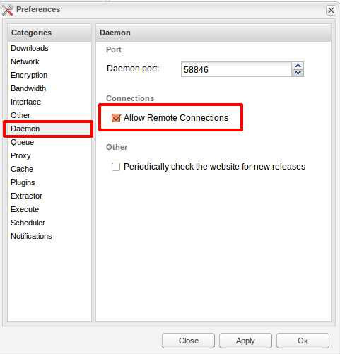 Remotely connect to Deluged on Windows and Linux